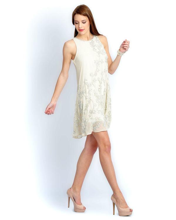 Ivory beaded dress 1