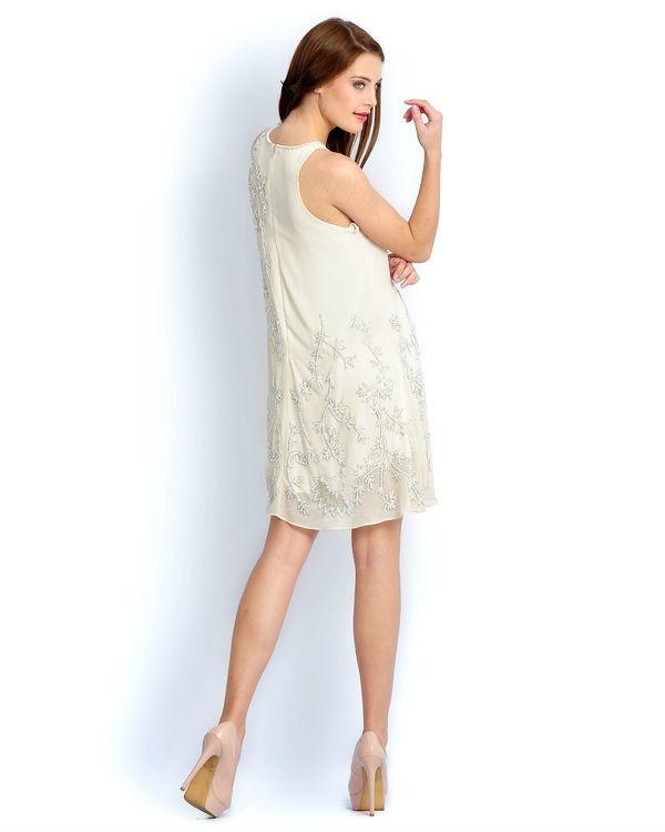 Ivory beaded dress 2