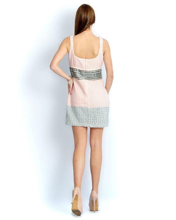 Ivory pink beaded dress 2