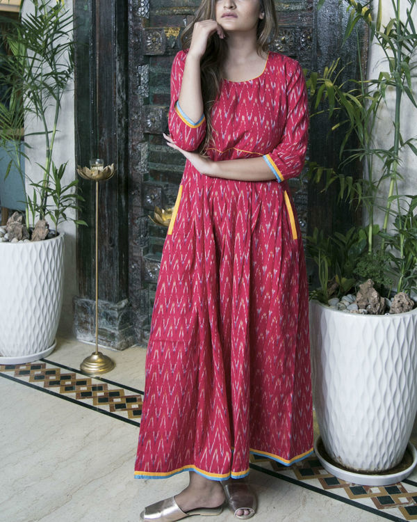 Red and yellow ikat maxi 2