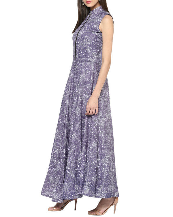 Purple paisley maxi 1