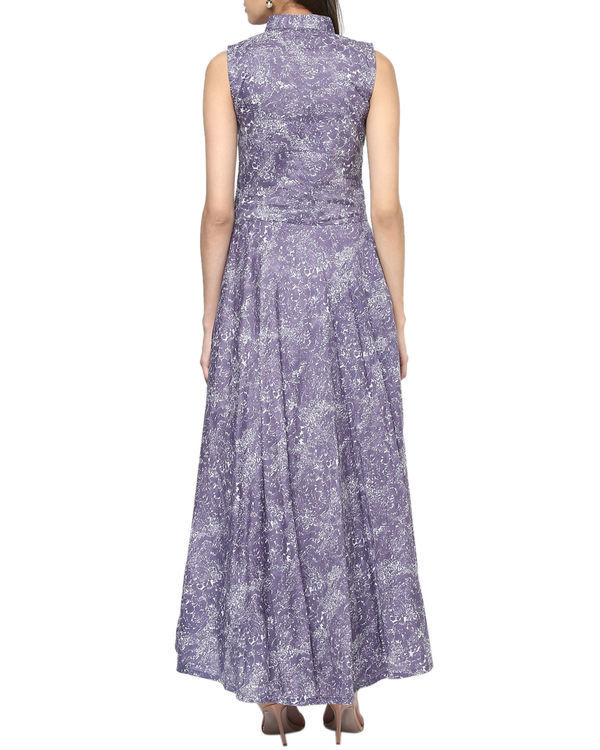 Purple paisley maxi 2