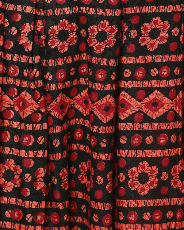 Red floral skirt 3