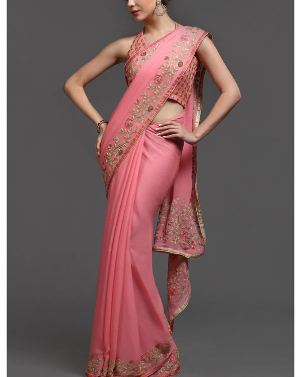 Rosy affair sari 1