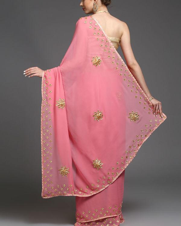 Pink gold sari 1