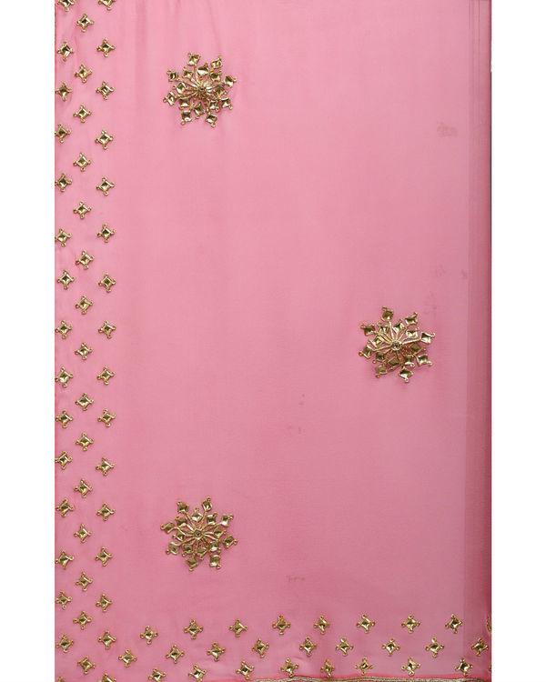 Pink gold sari 2