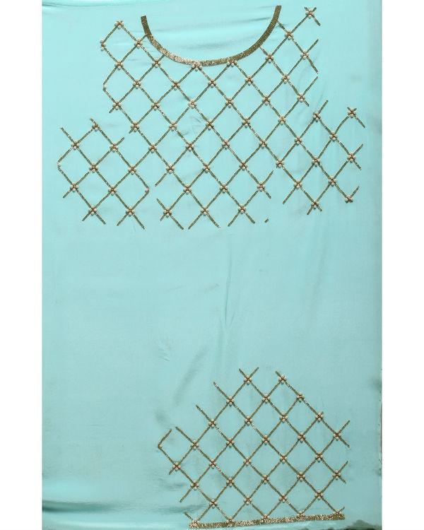 Aqua gold sari 3