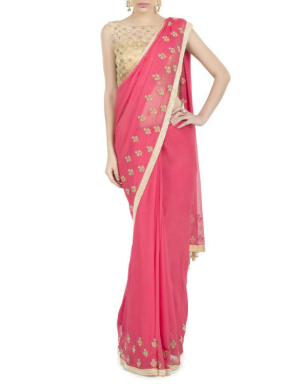 Flowery drizzle sari 1