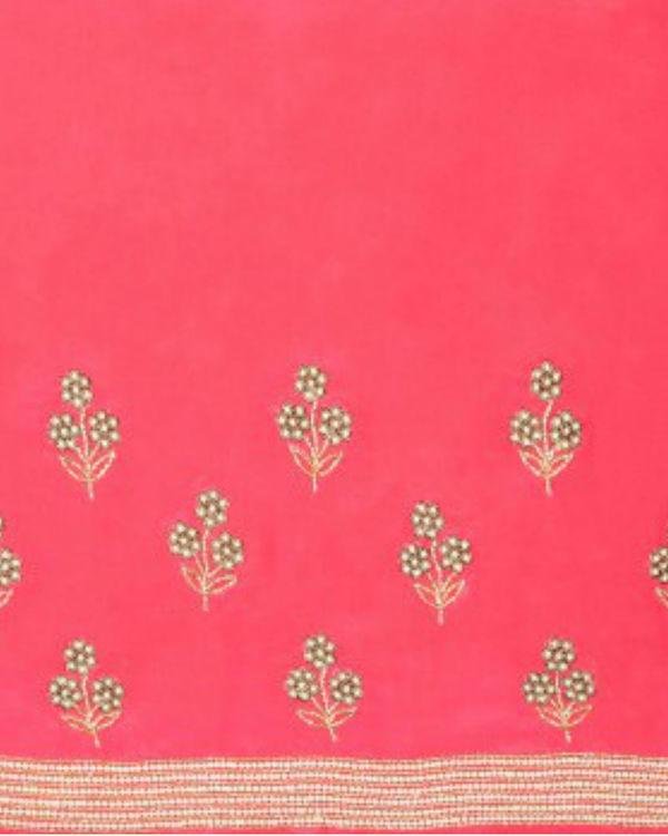 Flowery drizzle sari 3