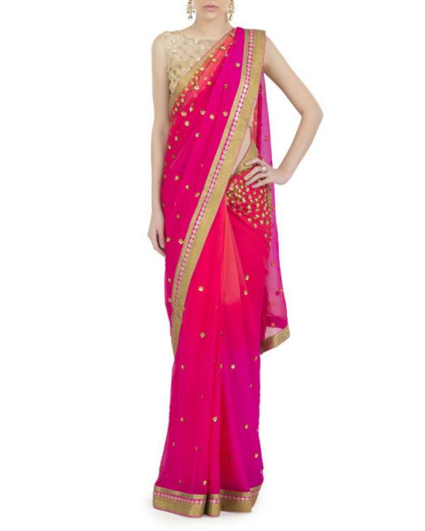 Pink galaxy sari 1