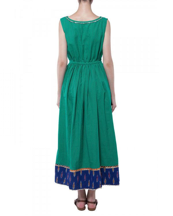 Green handloom dress 1