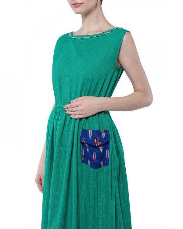 Green handloom dress 2