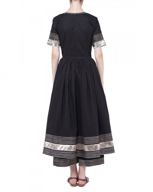 Black gota work anarkali set 1