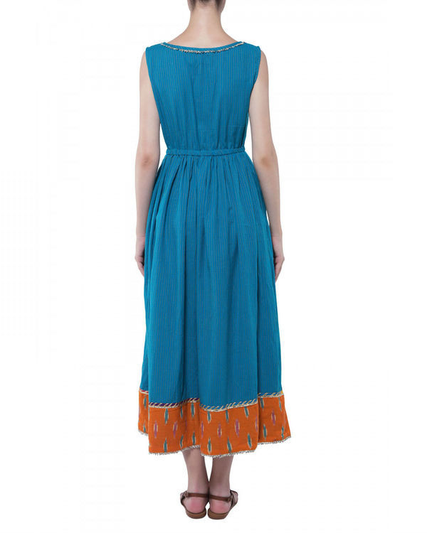 Blue handloom dress 1