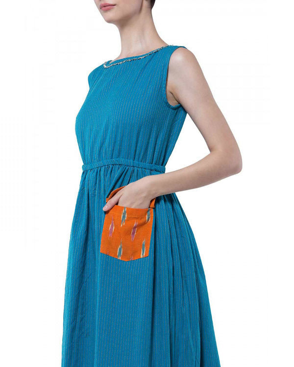 Blue handloom dress 2