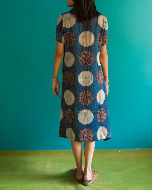 Ajrakh a line dress 1