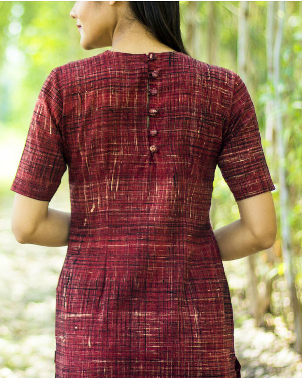 Brick kurta with pockets 2