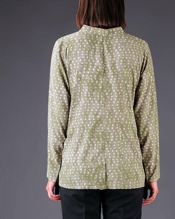 Olive panelled shirt 2