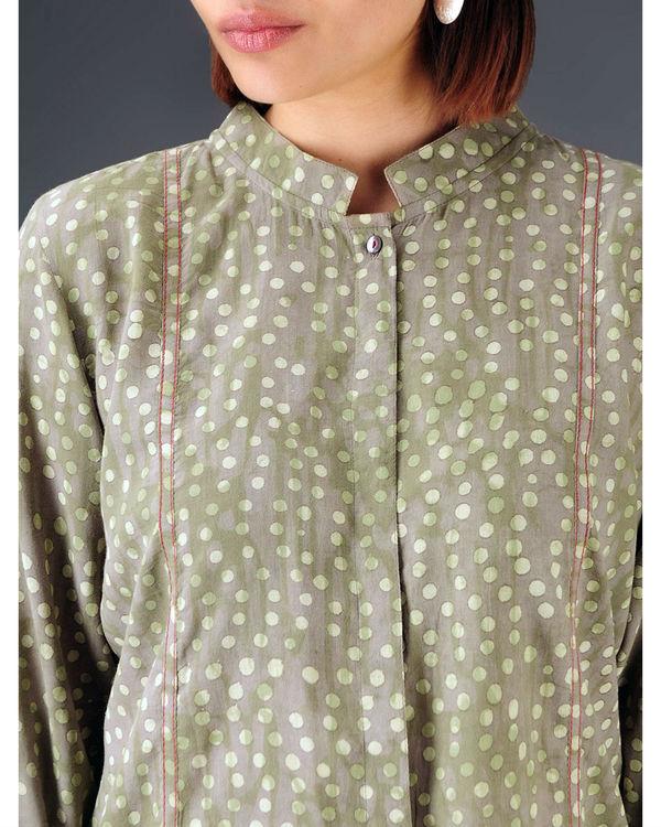 Olive panelled shirt 3