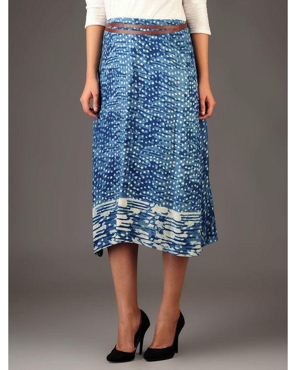 Indigo wrap skirt with pockets 1