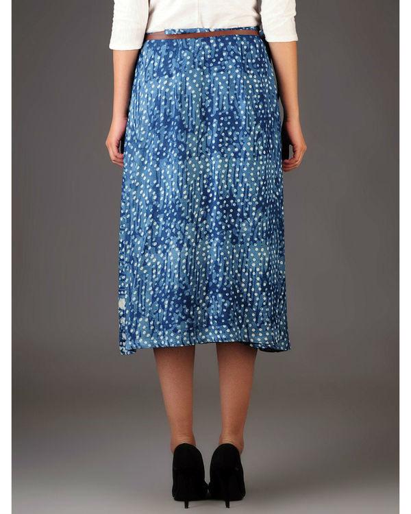 Indigo wrap skirt with pockets 2