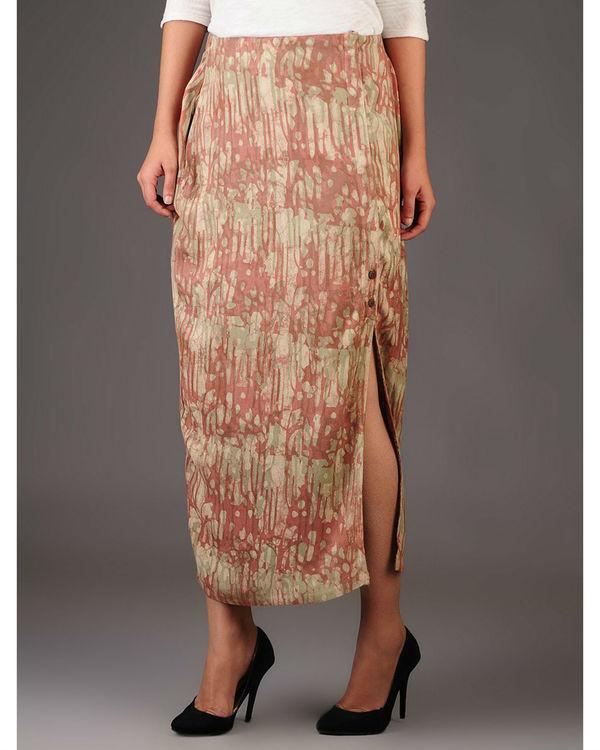 Cocoon side slit skirt 1