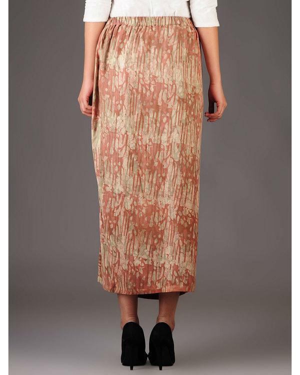 Cocoon side slit skirt 2