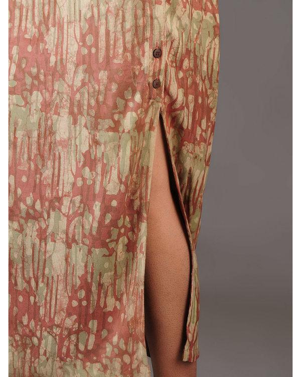 Cocoon side slit skirt 3