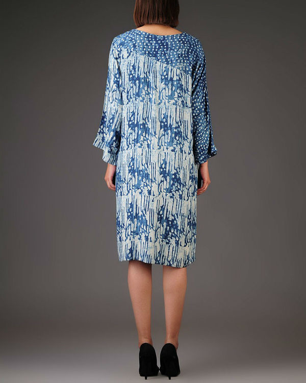 Indigo panelled dress 1