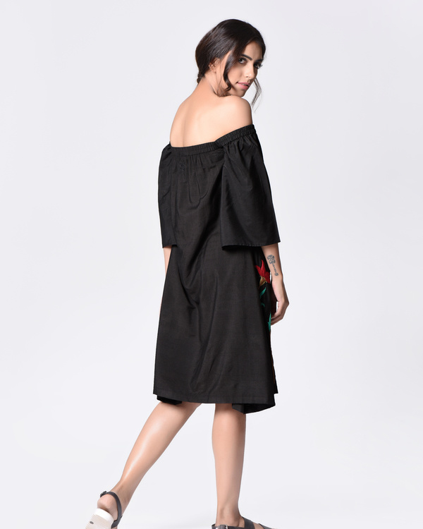 Black off shoulder dress 1