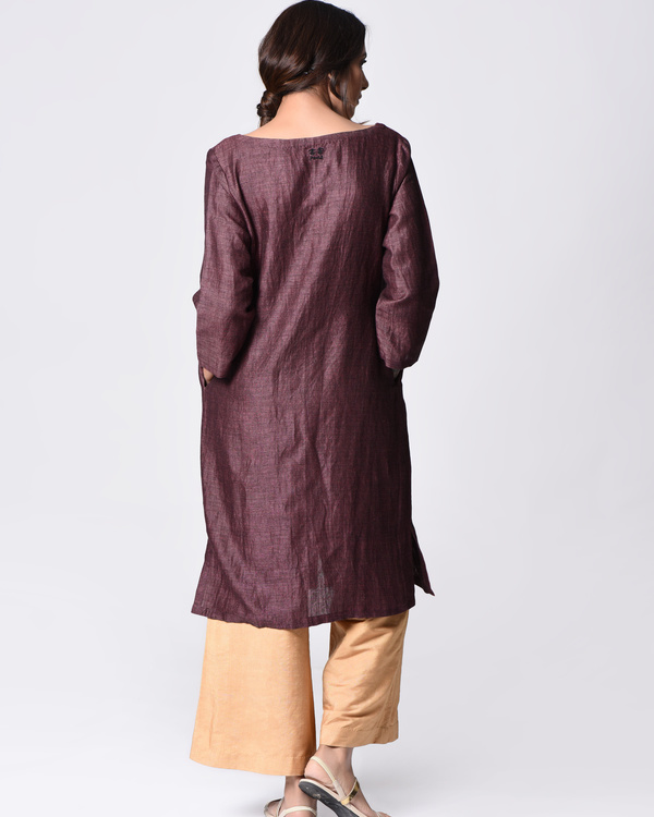 Purple embroidered tunic 2