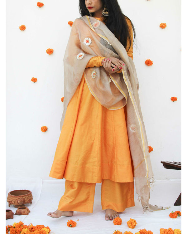 Marigold anarkali set 1