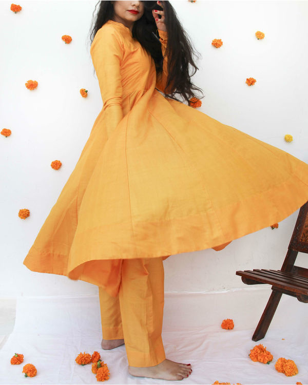Marigold anarkali set 2