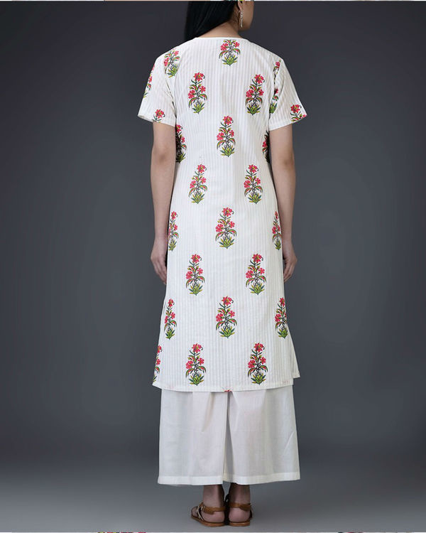 Fuschia floral tunic 1