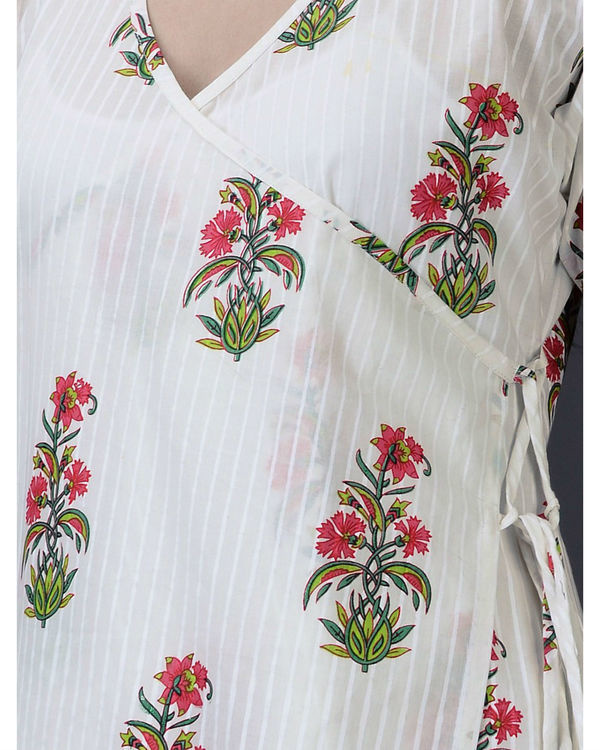 Fuschia floral tunic 2