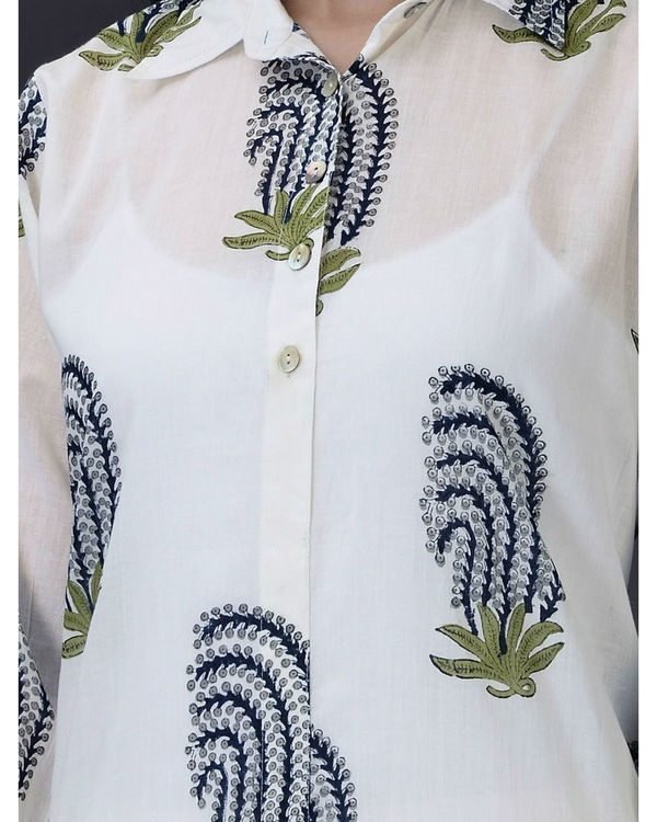 Blue ivory cotton tunic 2