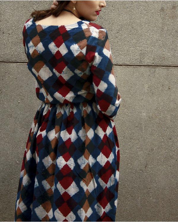Indigo classic block dress 2