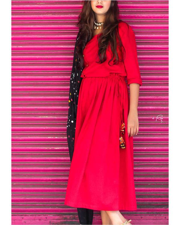 Red vintage dress 1