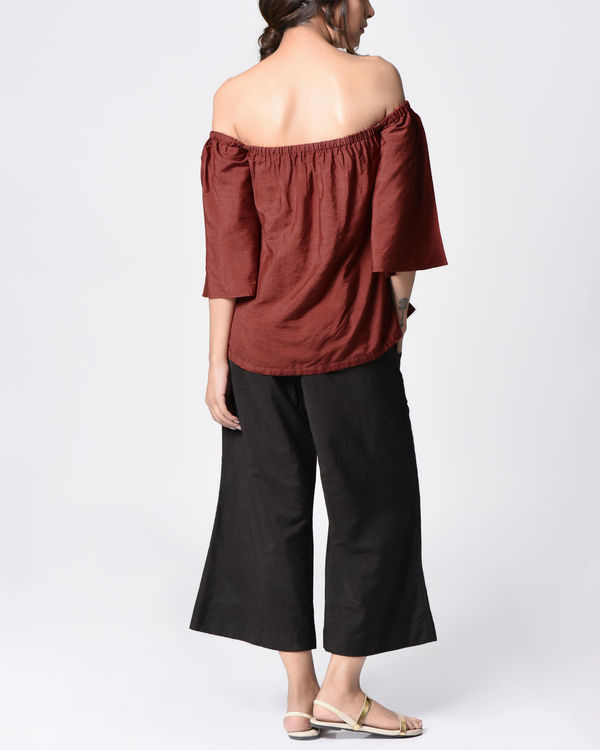 Marsala embroidered top 3