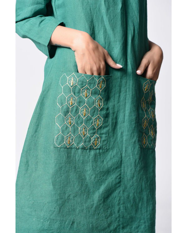 Teal embroidered anarkali 2