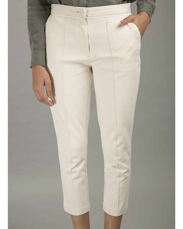 White pintuck trousers 1