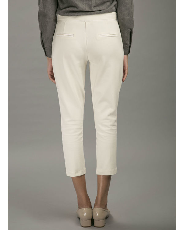 White pintuck trousers 3