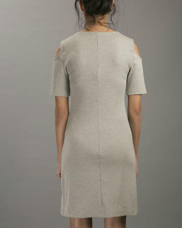 Melange cold shoulder dress 3