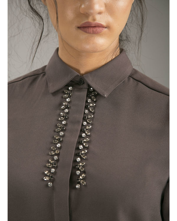 Clay embellished shirt 1