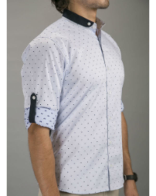 Blue polka shirt 2