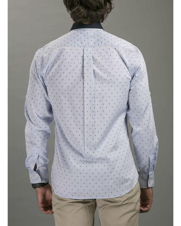 Blue polka shirt 3