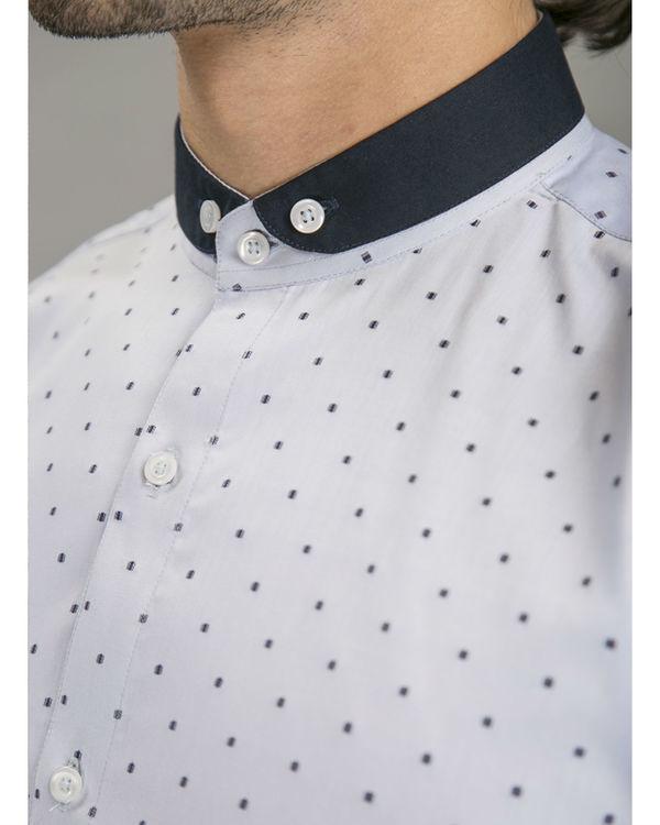 Blue polka shirt 4