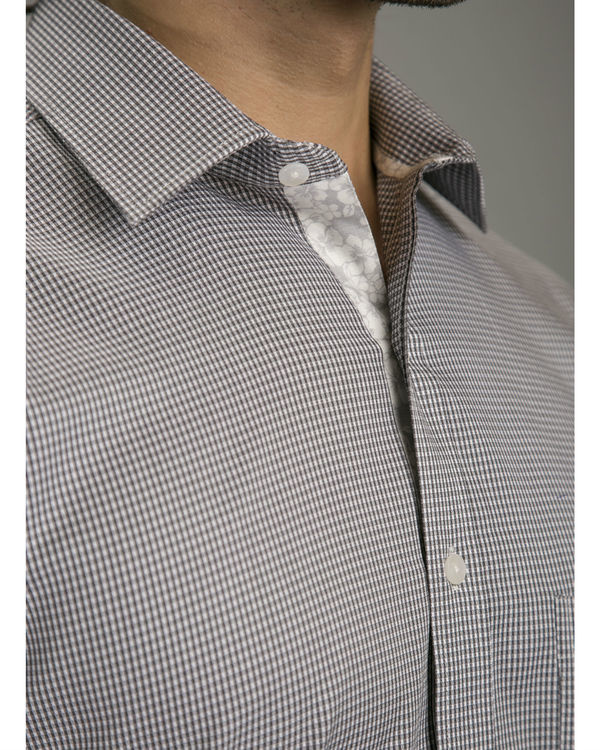 Grey jacquard shirt 2