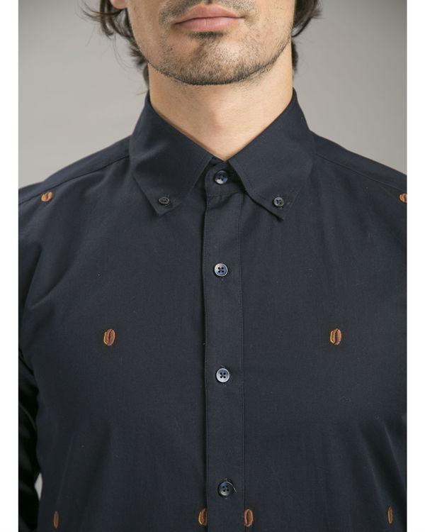 Navy poplin shirt 1