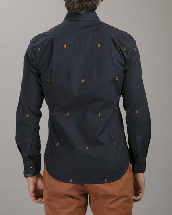 Navy poplin shirt 2